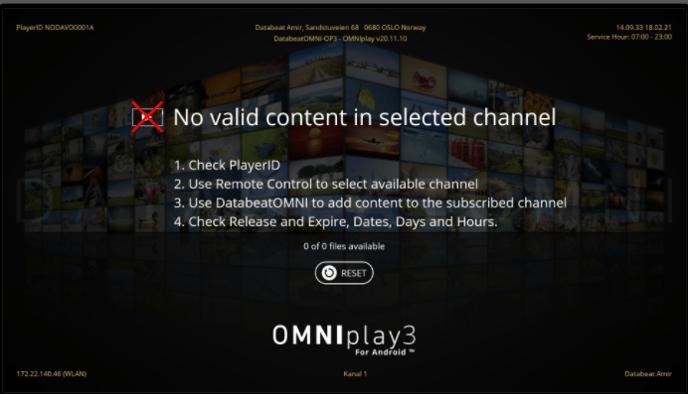No valid content