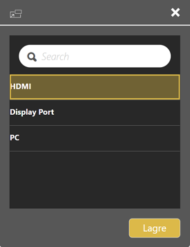HDMI display port TV