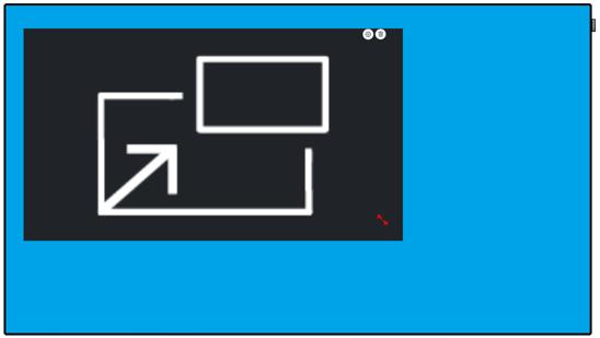 PIP widget digital signage