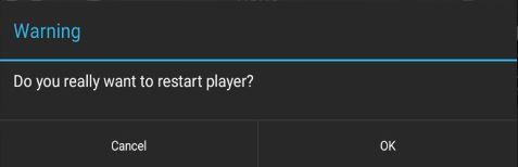 Databeat OMNIplay3 Restart player