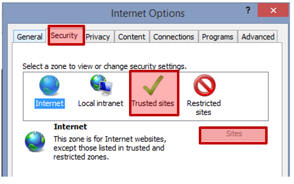 Internet Options