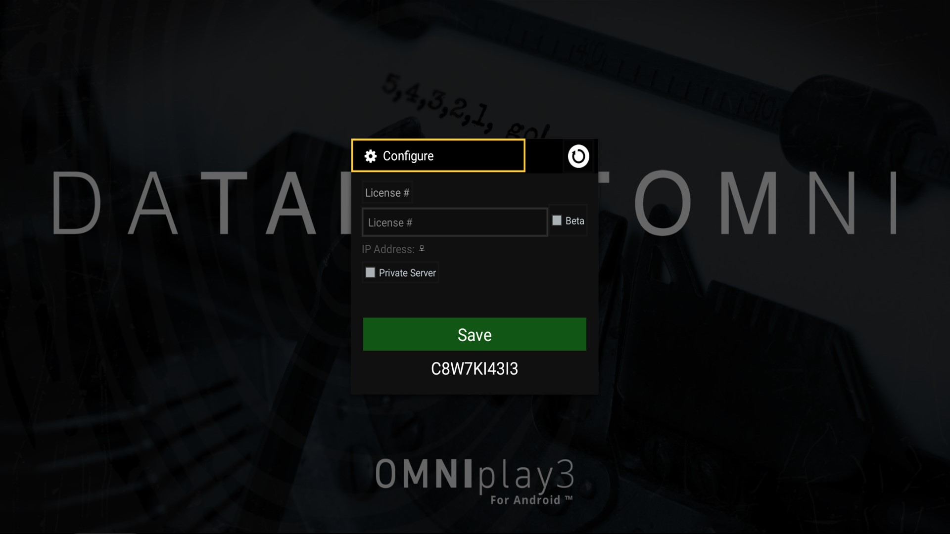 Databeat OMNIplay3 Configure