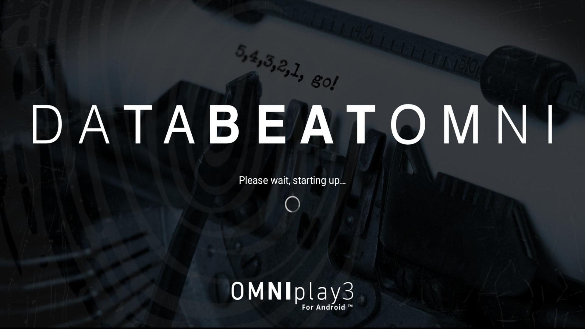 Databeat OMNIplay3 oppstart