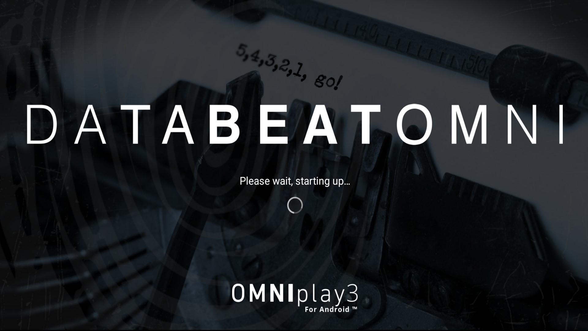 Databeat OMNIplay3 DatabeatOMNI Please wait, starting up