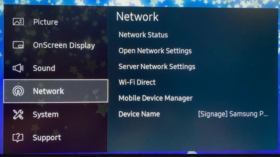 digital signage screenshot network