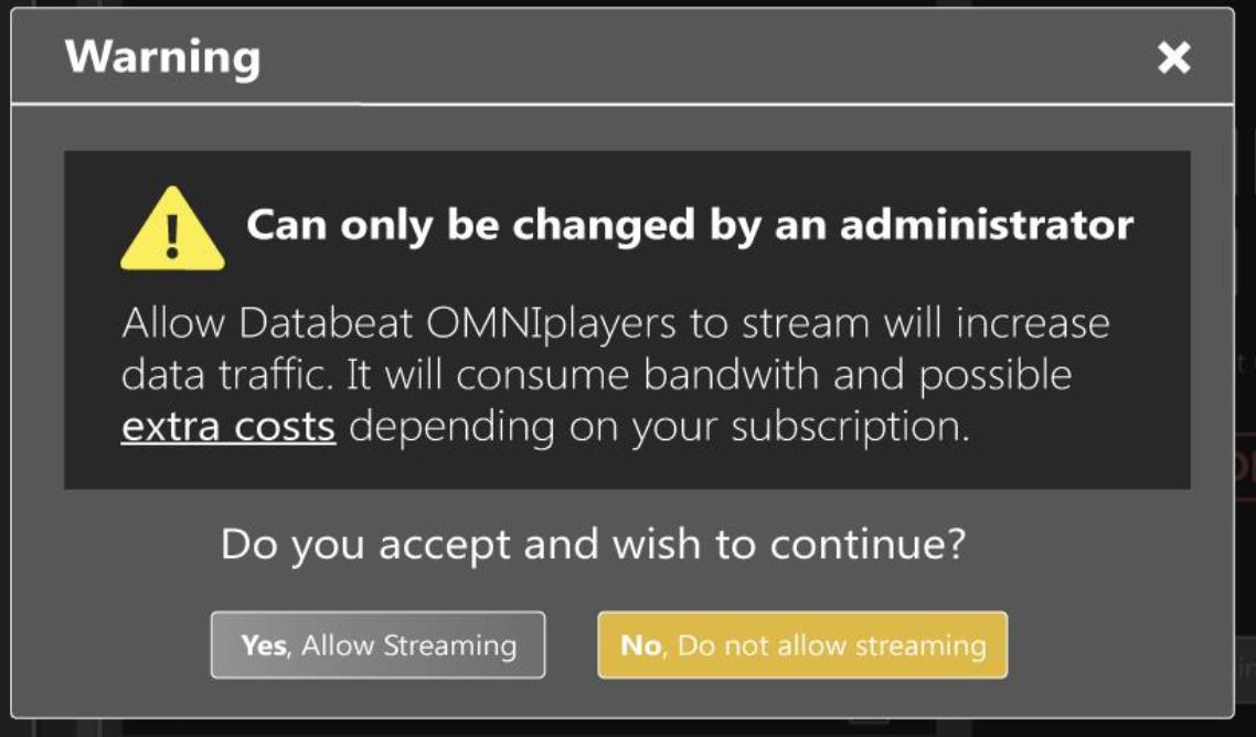 warning admin