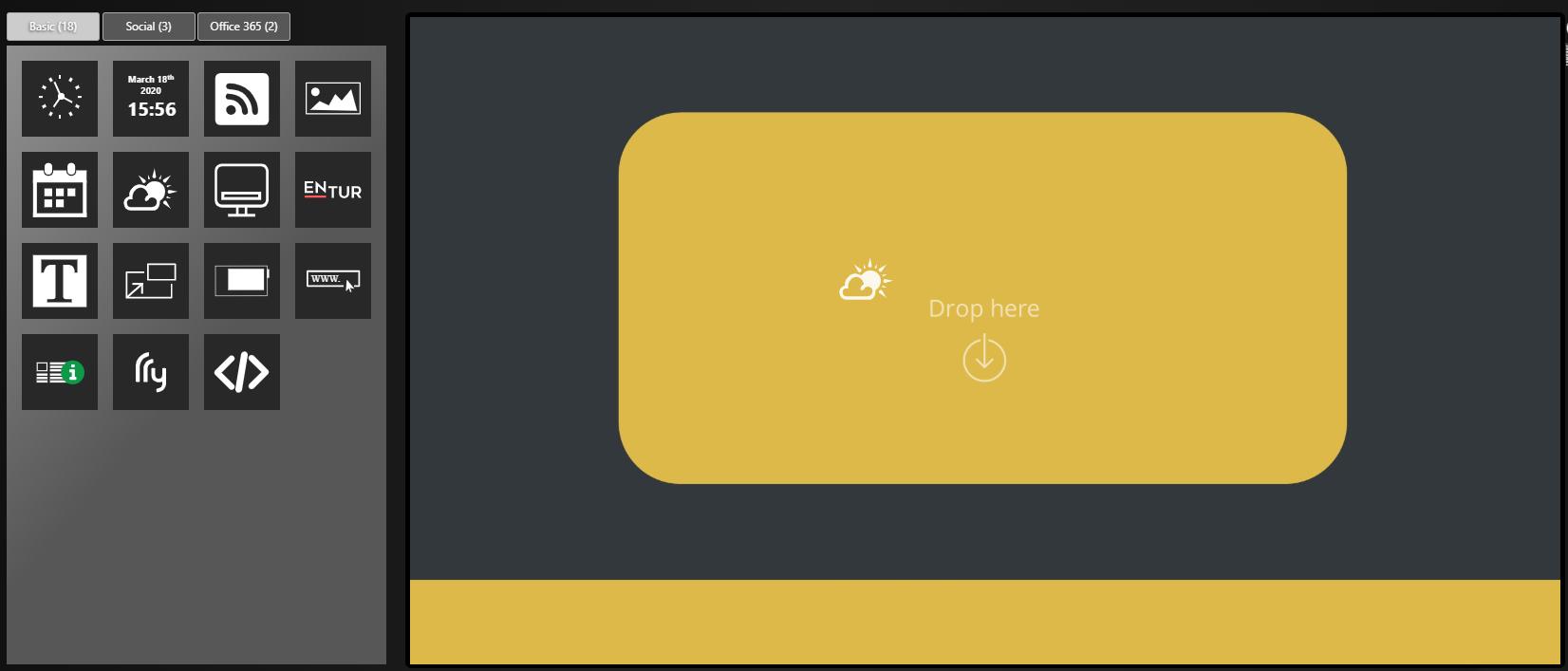 Screen Design DatabeatOMNI Weather