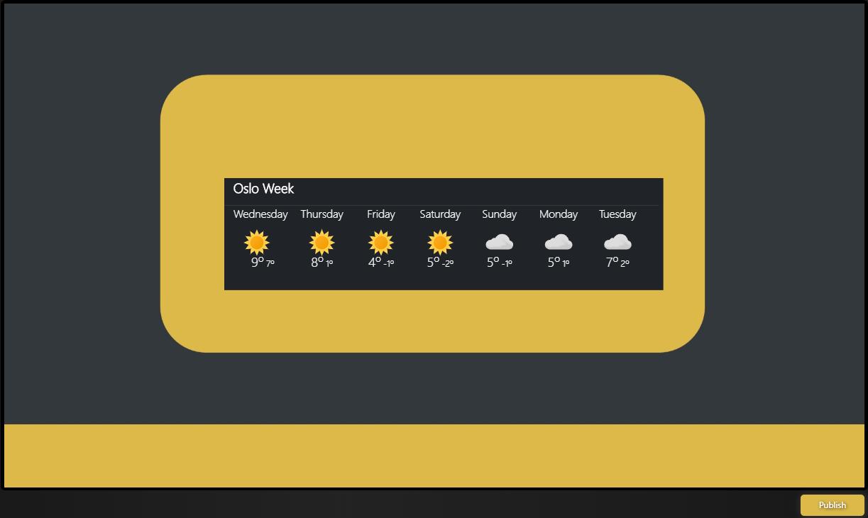 Weather Widget Preview