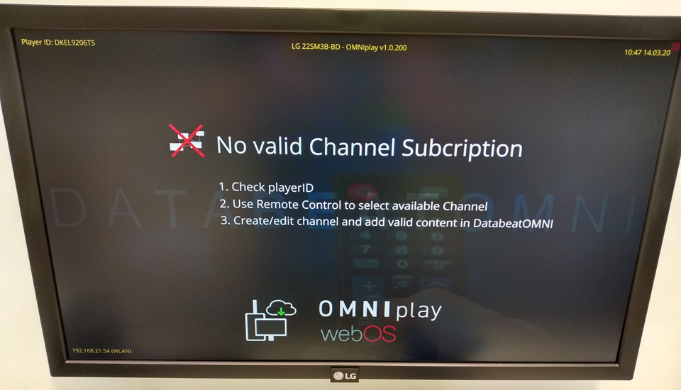 No Valid Channel Subscription